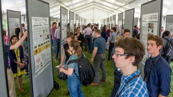 Argonne summer interns showcased their work at the end of the year Learning on the Lawn: Student Poster Symposium.