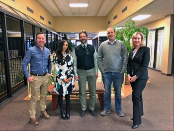 DOE staff and WDEQ Uranium Recovery program manager at the Cheyenne, Wyoming, office.