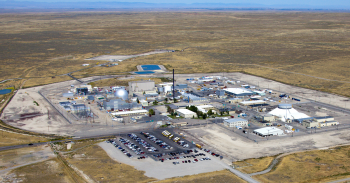 Aerial view of the Materials and Fuels Complex at Idaho National Laboratory.