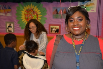 Sankofa Elementary School teacher Khelsey Pellum is a big fan of Family STEAM Night.