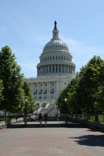 Veritcal image of the U.S. Capitol building in Washington, D.C.