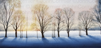 """""""Winter Dawn"""" by John Cormier, People's Choice Award winner at the New Mexico Watercolor Society Fall Exhibition. Reproduced with permission."""