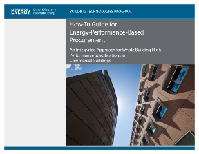 The cover of the report, Strategies for Procuring High-Performance Buildings on Typical Construction Budgets.