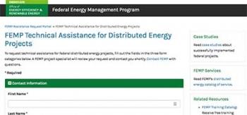 Screenshot of the Technical Assistance Portal.