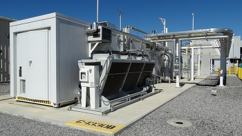 A new hydrogen-generation unit at the Paducah DUF6 facility was one of many upgrades to the DUF6 Conversion Project completed in 2018.