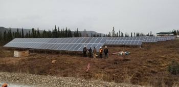Photo of Hughes solar project.