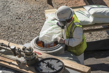 EM and Savannah River Nuclear Solutions are using oxidants to neutralize solvents found in groundwater beneath the Savannah River Site in a field-scale test. The oxidants destroy the waste solvents, producing non-toxic byproducts.