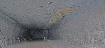 Work during a planned maintenance outage at the Waste Isolation Pilot Plant included preparing Panel 7, Room 3 in the underground for waste emplacement.