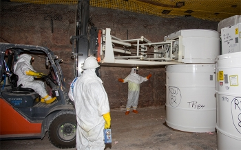 Employees emplace transuranic waste 2,150 feet underground at the Waste Isolation Pilot Plant for permanent, safe disposal.