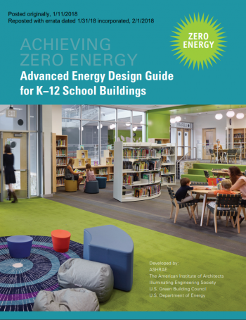 Cover image of Advanced Energy Design Guide for K-12 School Buildings.