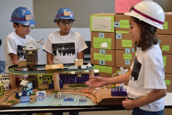 Students in the NM Future City Competition.