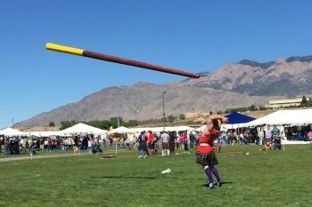 "Caber Toss at the Rio Grande Valley Celtic Festival & Highland Games in Albuquerque, NM. Caber: 18'6"" 126lb."