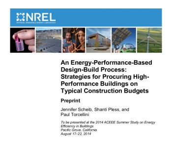Cover of Strategies for Procuring High-Performance Buildings on Typical Construction Budgets.