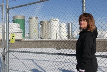 Pam Spaulding's job as Nuclear Facilities Manager is to keep track of all activities at the Outdoor Fuel Storage facility at DOE's Idaho Site