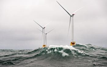 Offshore wind farm off Rhode Island.