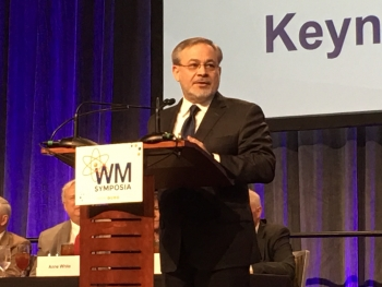 """Addressing the 2019 Waste Management Symposia, Deputy Secretary Dan Brouillette said environmental cleanup is and will continue to be a Department of Energy priority. """"We have a responsibility to complete the cleanup of this environmental legacy,"""" he said"""