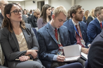 NGFP Fellows listen intently and take copious notes at the two-day career information session.