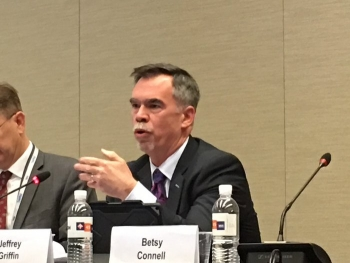 Jeff Griffin, Associate Principal Deputy Assistant Secretary for Field Operations, described improvements in EM processes to evaluate contractor performance and determine award fees.