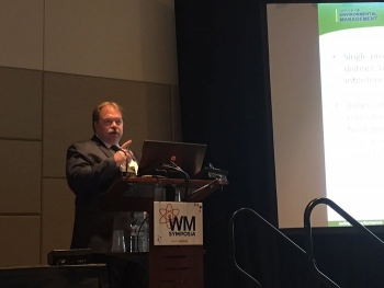 Portsmouth/Paducah Project Office Manager Robert Edwards led presentations at the 2019 Waste Management Symposia on progress being made at the EM cleanup sites in Ohio and Kentucky