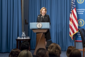 Under Secretary for Nuclear Security and NNSA Administrator Lisa E. Gordon-Hagerty delivered a keynote address at the DOE/NNSA Women's History Month event.