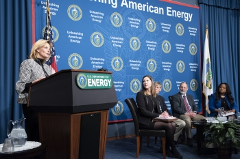 NNSA Administrator Lisa E. Gordon-Hagerty briefly joined the panel discussion on the future of the plutonium pit production mission.