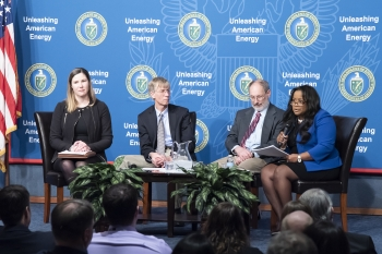 Nicole Nelson-Jean, Director of NNSA's Savannah River Field Office, emphasizes the importance of teamwork.