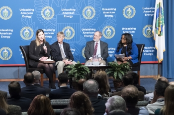 Kelly Cummins explains the future of the plutonium pit production mission to the NNSA workforce.