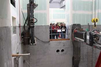Local high school students recently toured the 324 Building mock-up at the Hanford Site to observe workers and learn about career opportunities.