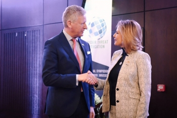 Belgian Minister of Security and Home Affairs, Pieter De Crem, and NNSA Administrator Lisa Gordon-Hagerty, delivered opening remarks at the International Symposium on Insider Threat Mitigation.