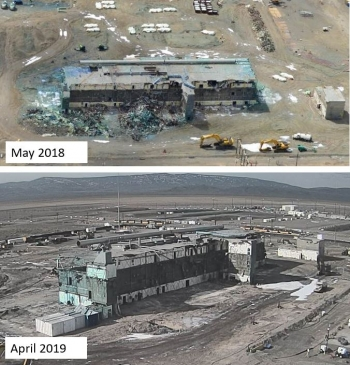 Since last September, EM Richland Operations Office contractor CH2M HILL Plateau Remediation Company has safely removed nearly 2,500 tons of debris from around the Plutonium Finishing Plant. The debris was packaged and disposed at Hanford's Environmental