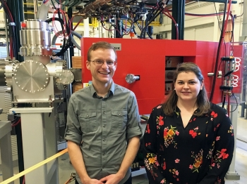 Graduate students Rebecca Lewis and Zachary Matheson