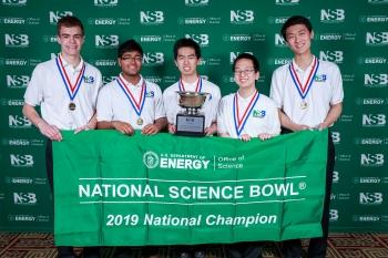 National Science Bowl 2019 high school winners