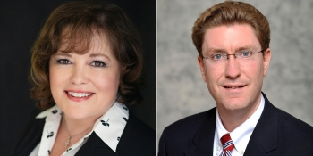 Official portraits of Kimberly Rasar and Kenneth Vincent