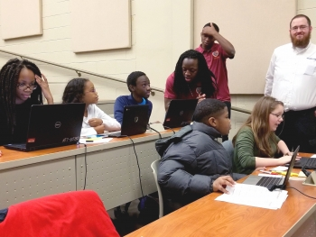 Sixth-grade Renaissance Learner student teams at Claflin University in South Carolina.