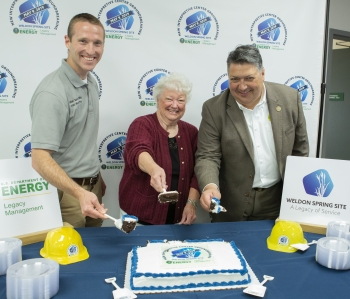 Cake and refreshments at Weldon Spring groundbreaking.