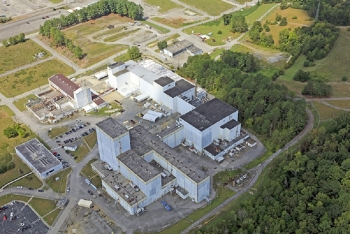Crews are preparing the Centrifuge Complex for demolition at the East Tennessee Technology Park. EM anticipates beginning the teardown in 2020.