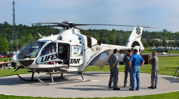 Safety Fest TN participants viewed numerous demonstrations, including one for the University of Tennessee Medical Center medical helicopter.