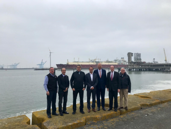Energy leaders visit Fluxys' Zeebrugge LNG import terminal in Belgium.