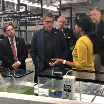 – Energy Secretary Rick Perry and Under Secretary for Science Paul Dabbar visited Oak Ridge last week, where they learned about a partnership between EM and DOE's Office of Science to identify effective and affordable solutions for mercury cleanup.