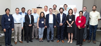 IMPEL Lab Innovation teams and mentors at the first IMPEL Training event at the Energy Exchange in Cleveland, August 2018.