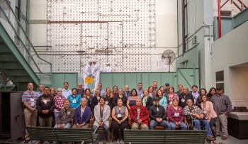 Members of the State and Tribal Government Working Group; tribal leaders; officials from EM, DOE's Office of Legacy Management, and the National Nuclear Security Administration; and DOE field site managers gather during a tour of the X-10 Graphite Reactor