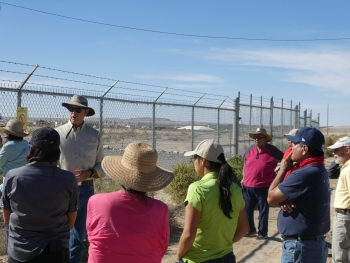 LM Shiprock Site Manager Mark Kautsky addresses Diné Uranium Remediation Advisory Commission members, and other federal and tribal agencies, during a during a tour of the Shiprock, New Mexico, Disposal Site.