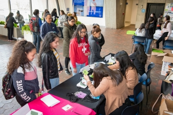 On May 4, 56 Latina middle school students came to Fermilab for the fourth Dare to Dream STEM conference hosted at the laboratory.