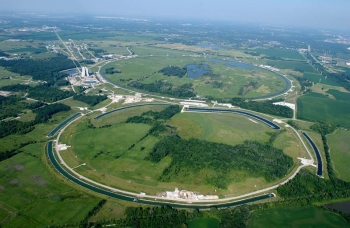 A new method improves the circulating beams in the Recycler Ring (which is located underground, beneath the long, skinny ponds shown here). The ring is a major component of Fermilab's accelerator chain.