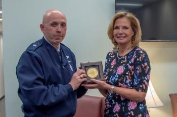Brig. Gen. Ron Allen with NNSA Administrator Lisa E. Gordon-Hagerty.