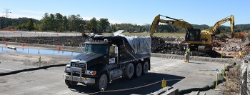 Oak Ridge crews began removing trailers and tearing up a 6.5-acre slab and asphalt at the Building K-29 site in October 2018.