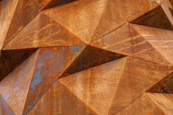 Researchers created a 3D atomic map that offers a highly detailed view of how rust (shown here) forms.