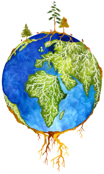 Forests and microbes are symbiotically connected globally.