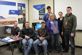 Fluor Idaho employees who recently graduated from the College of Eastern Idaho's Radiation Protection Program, from left: Michael Woolf, Kyler Albertson, Brett Waymire, Michael Charboneau, Lana Twitchell, Lesleigh Martin, and David Hollobaugh.
