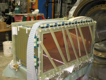 The ArgoNeuT detector at Fermilab used liquid argon to detect mysterious particles called neutrinos.